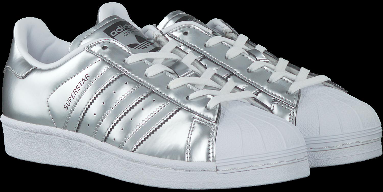 adidas superstar j w schoenen wit zilver
