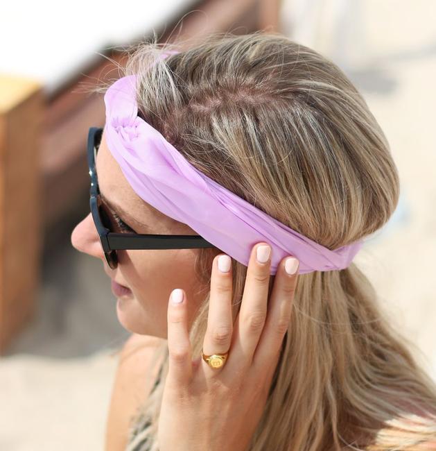 Paarse MY JEWELLERY Haarband HEADBAND - large