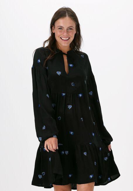 Zwarte SISSEL EDELBO Mini jurk MARYLIN NOIR SILK DRESS  - large