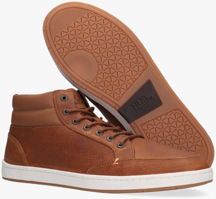 Cognac HUB Hoge sneaker INDUSTRY 2.0  - larger
