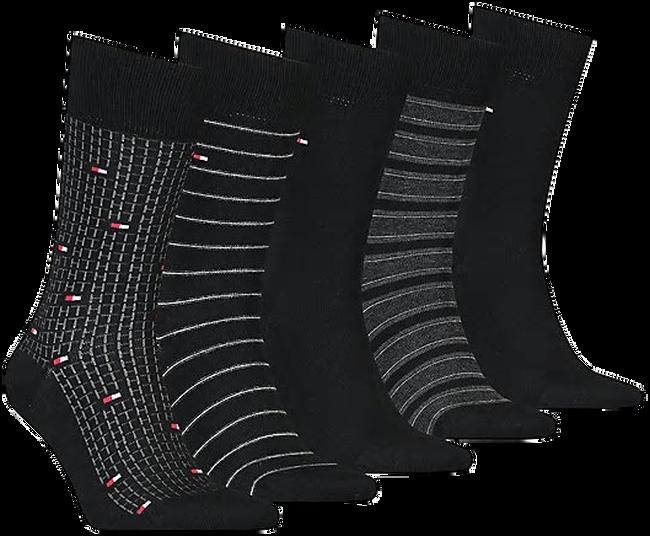 Zwarte TOMMY HILFIGER Sokken TH MEN SOCK 5P FINE STRIPE TIN  - large