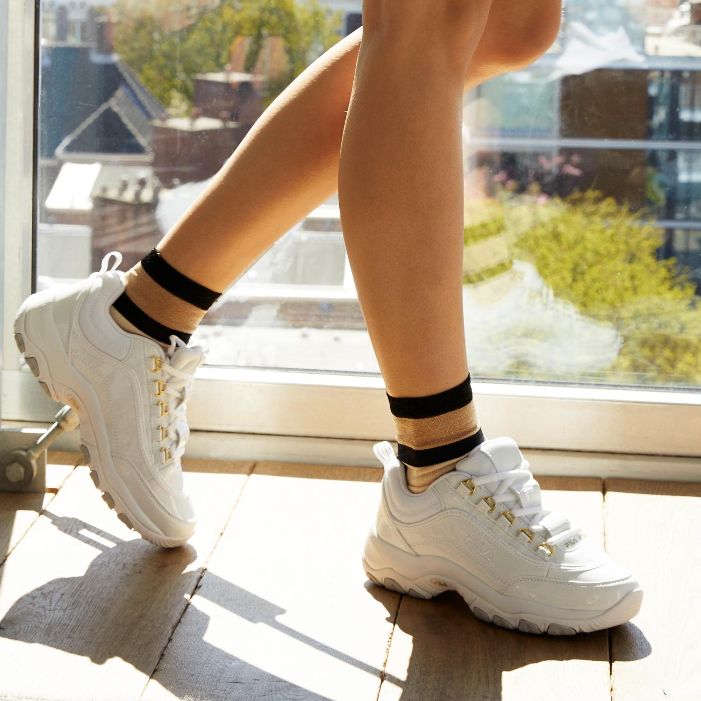 Witte FILA Sneakers STRADA M LOW WMN | Omoda