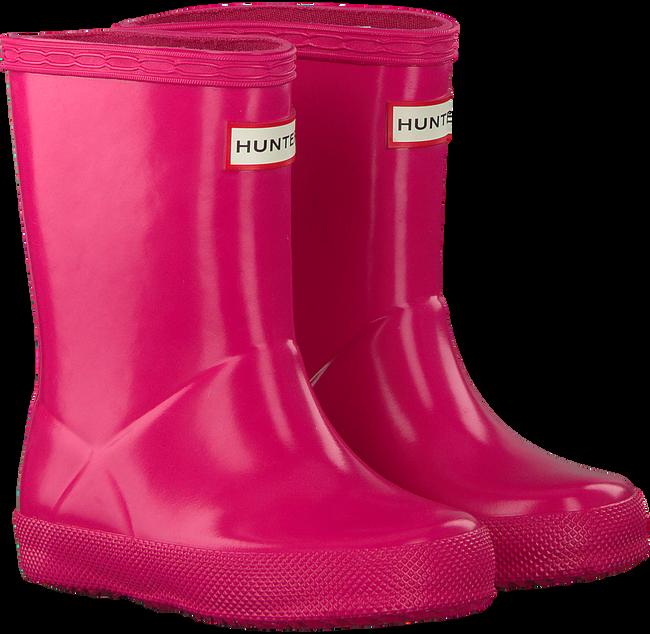 Roze HUNTER Regenlaarzen KIDS FIRST CLASSIC GLOSS  - large