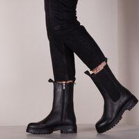 Zwarte NOTRE-V Chelsea boots 753008  - medium