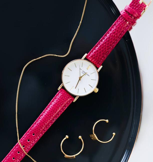 Roze MY JEWELLERY Horloge SMALL VINTAGE WATCH - large