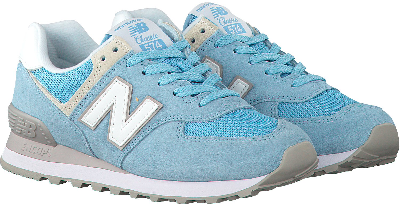 new balance dames wl574 blauw