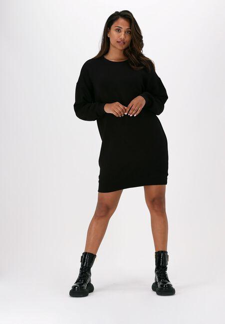 Zwarte MSCH COPENHAGEN Mini jurk IMA SWEAT DRESS - large