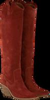 Rode BRONX Lange laarzen LOW-KOLE 14188  - medium