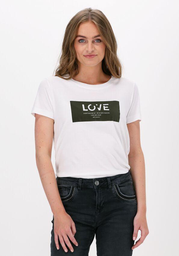 Witte MOS MOSH T-shirt CHERRIE O-SS TEE - larger