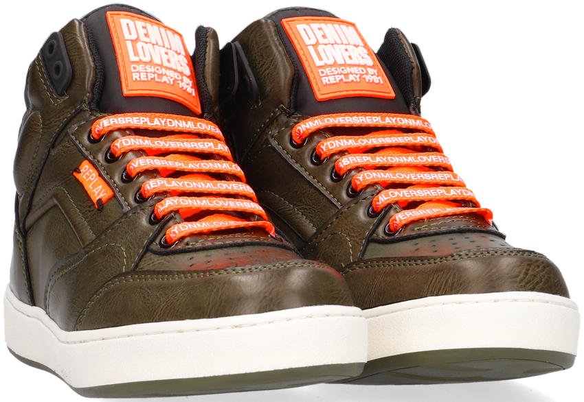 Groene REPLAY Hoge sneaker WALL  - larger