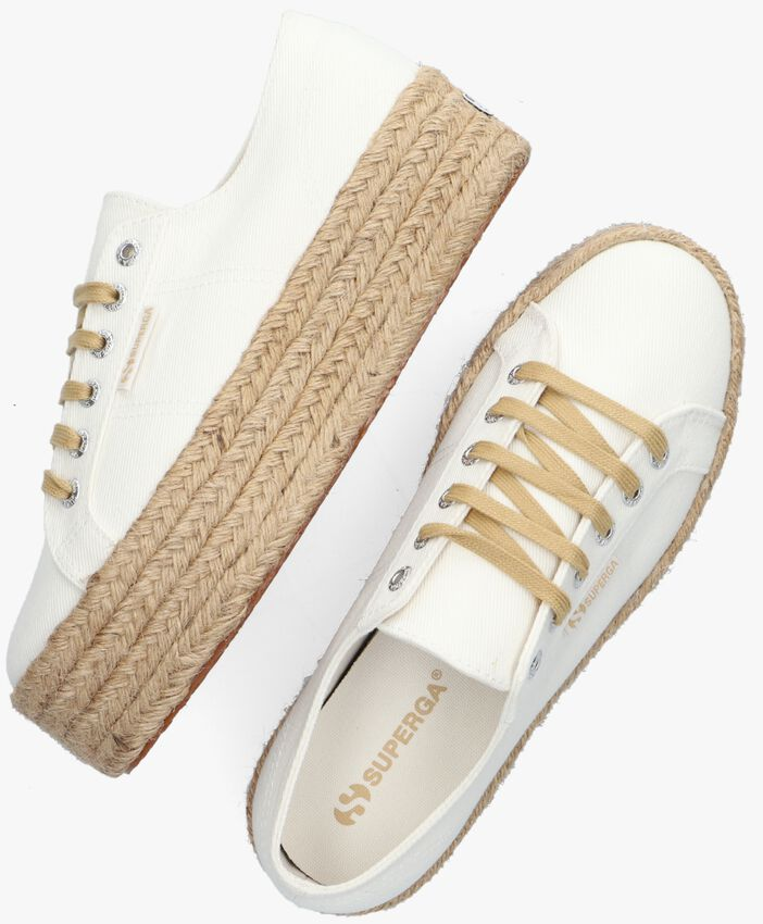 Witte SUPERGA Lage sneakers 2790 DRILL DENIM ROPE - larger