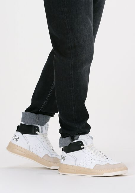 Witte WOMSH Hoge sneaker INK HIGH  - large