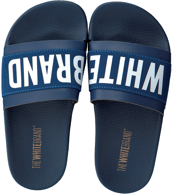Blauwe THE WHITE BRAND Slippers ELASTIC MINIMAL KIDS - large