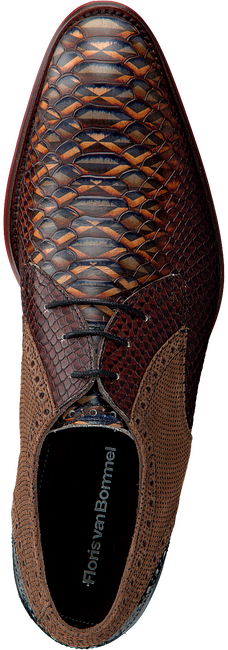 Cognac FLORIS VAN BOMMEL Nette schoenen 18106  - large