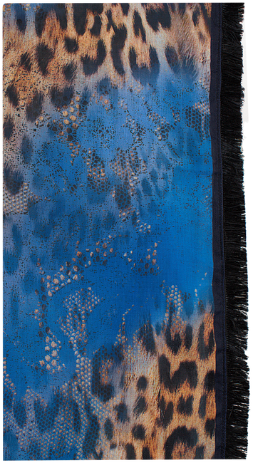 Blauwe ROMANO SHAWLS AMSTERDAM Sjaal SHAWL ANIMAL PONY - large