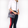 Blauwe TOMMY HILFIGER Clutch ICONIC TOMMY CROSSOVER CB - small