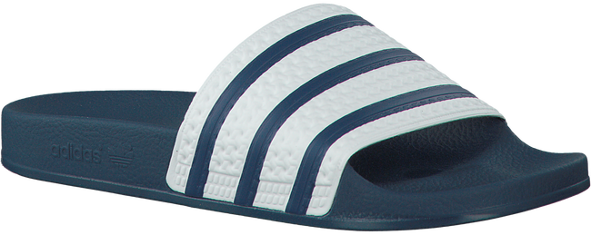 Blauwe ADIDAS Slippers ADILETTE HEREN  - large