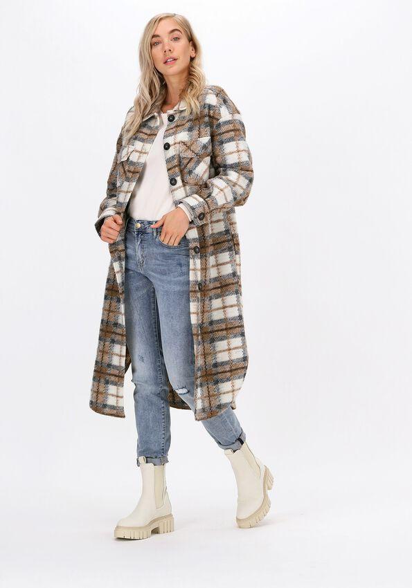 Bruine SUMMUM Vest COAT BRUSHED CHECK  - larger
