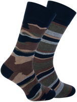 Blauwe MARCMARCS Sokken GILLIS COTTON 2-PACK  - medium