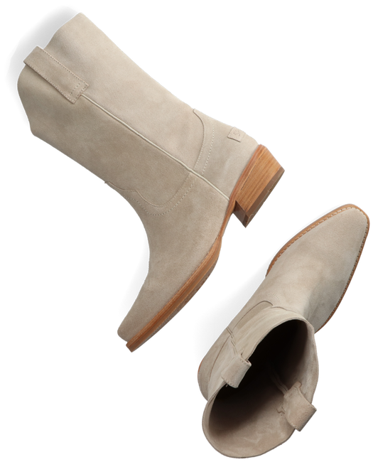 Beige SHABBIES Enkellaarsjes 192020091  - large