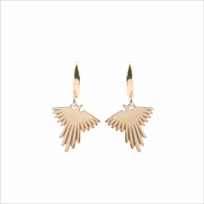 Gouden ATLITW STUDIO Oorbellen SOUVENIR EARRINGS EAGLE - large