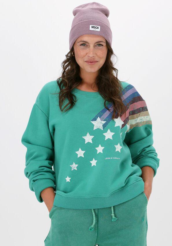 Groene LEON & HARRPER Sweater SORTIE JC55 COMET  - larger