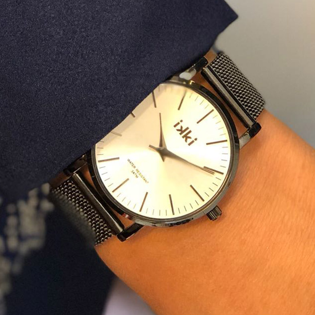 Grijze IKKI Horloge FLORENCE - large