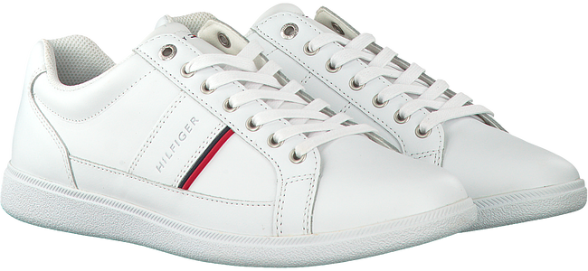 Witte TOMMY HILFIGER Sneakers CORE LEATHER CUPSOLE  - large