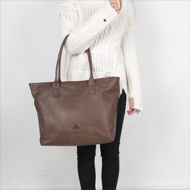 Bruine FRED DE LA BRETONIERE Shopper 213010002 - large