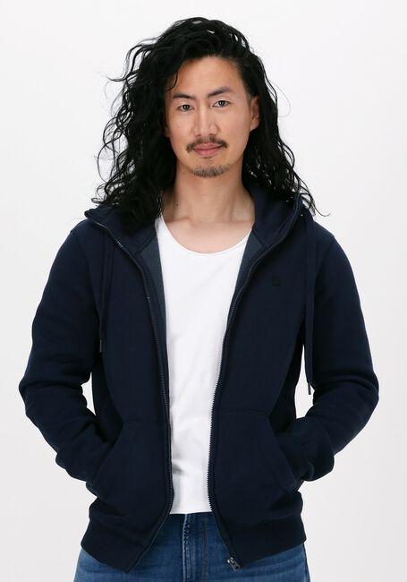 Donkerblauwe G-STAR RAW Sweater C235 - PACIOR SWEAT R HOODIE  - large