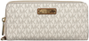Beige MICHAEL KORS Portemonnee TRAVEL CONTINENTAL - small