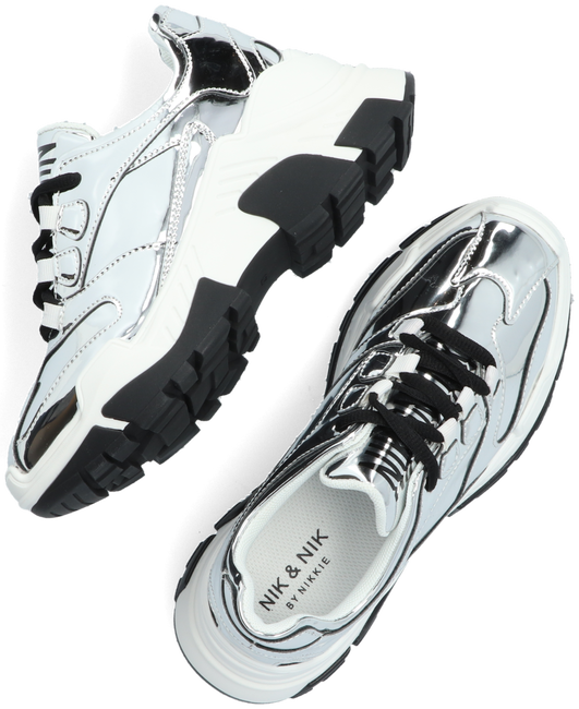 Zilveren NIK & NIK Lage sneakers LIZ SILVER SNEAKER  - large
