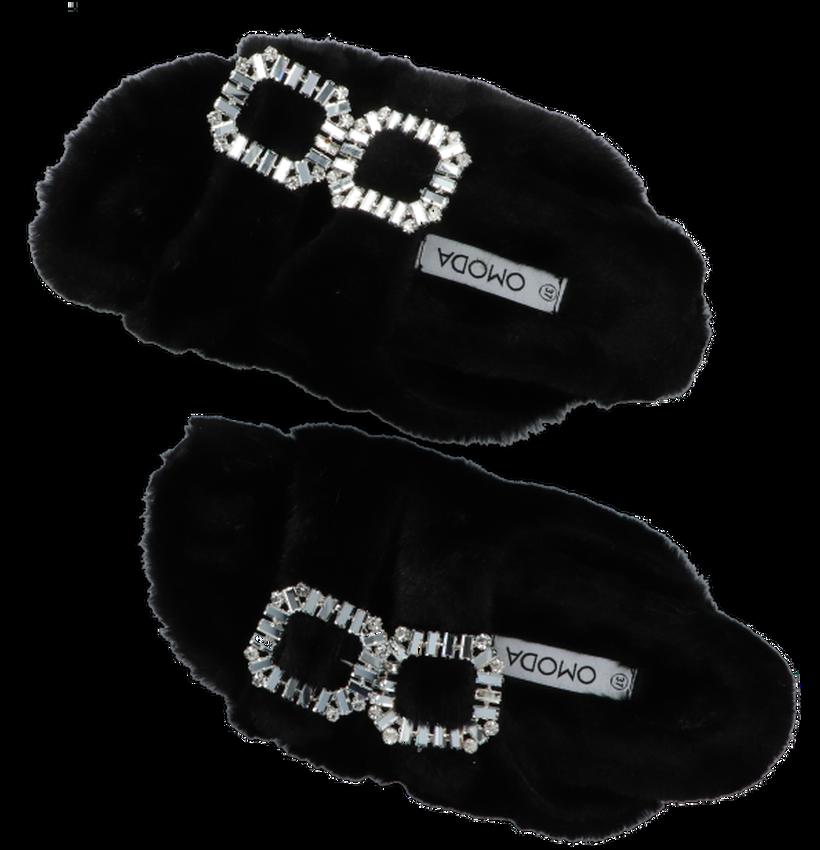 Zwarte OMODA Pantoffels BELLE  - larger