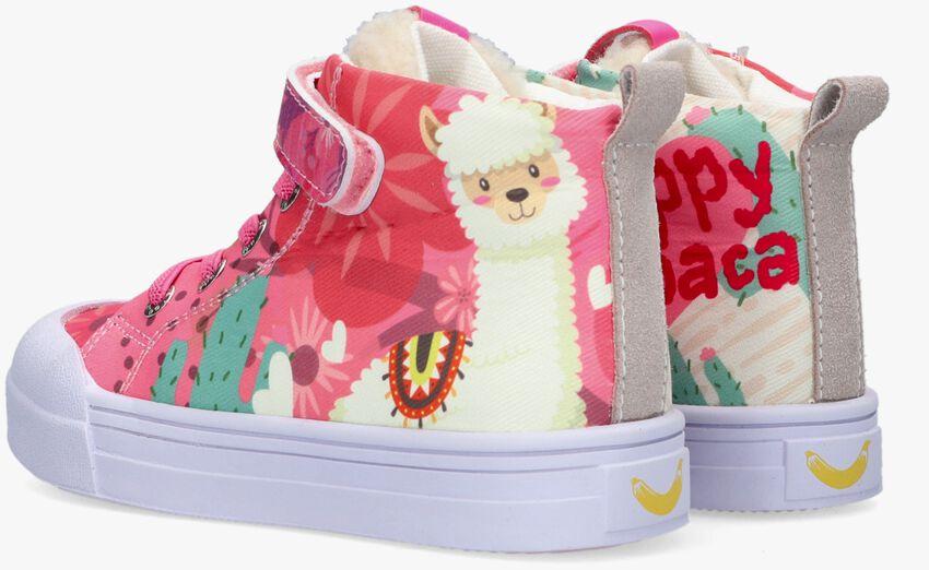 Roze GO BANANAS Hoge sneaker ALPACA  - larger