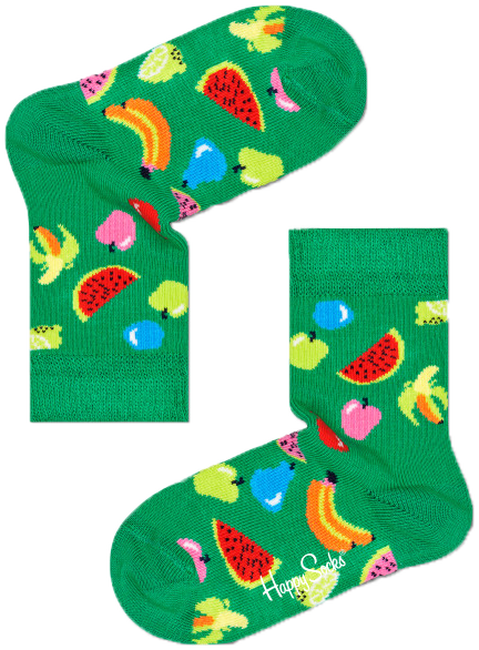 Groene HAPPY SOCKS Sokken KIDS FRUIT  - large