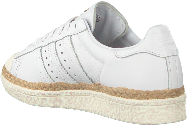 Witte ADIDAS Sneakers SUPERSTAR 80S DAMES  - large