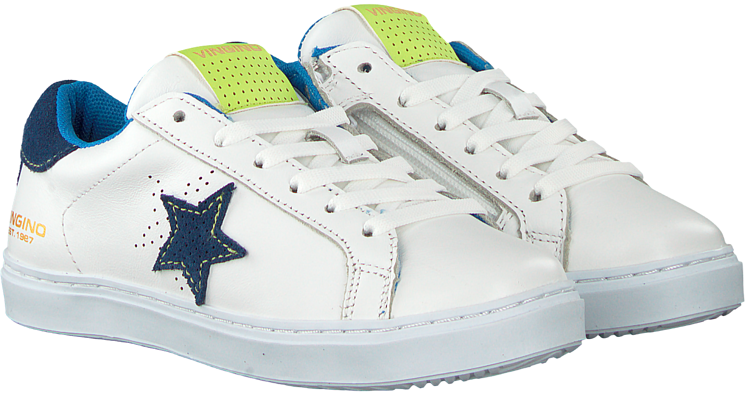 3506d589a9b6aa Witte VINGINO Sneakers TIZIANO - Omoda.nl