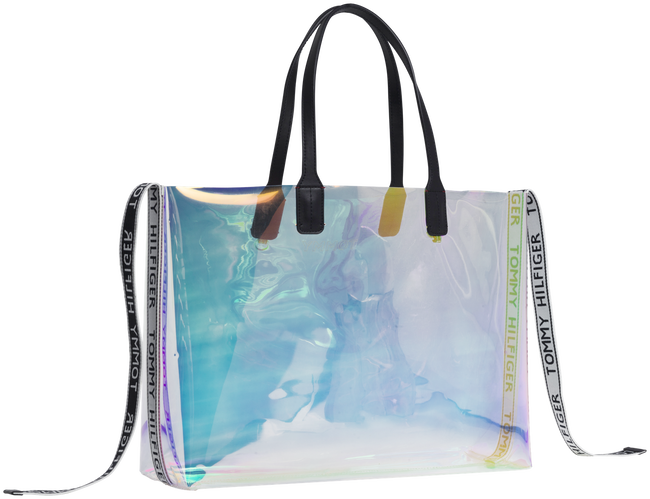 Transparante TOMMY HILFIGER Shopper ICONIC TOMMY TOTE IRRI - large