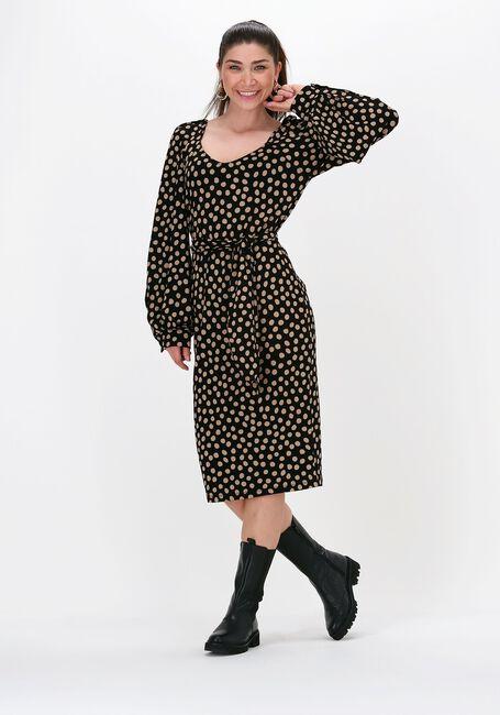 Zwarte JUFFROUW JANSEN Mini jurk DRESS WIDE SLEEVE - large