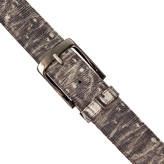 Beige REHAB Riem BELT LIZARD - large