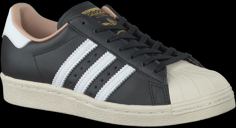 Zwarte ADIDAS Sneakers SUPERSTAR 80S DAMES | Omoda