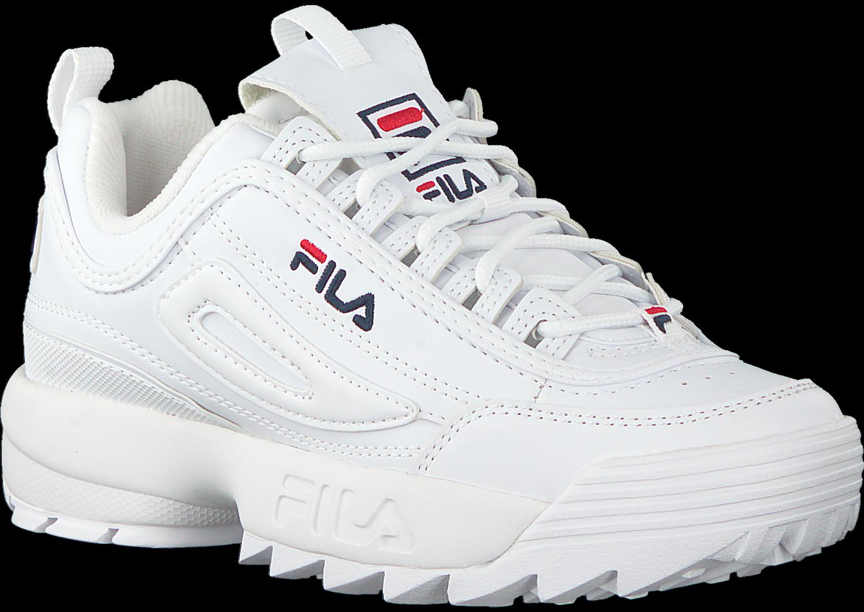 Witte FILA Sneakers DISRUPTOR M LOW WMN Omoda.nl