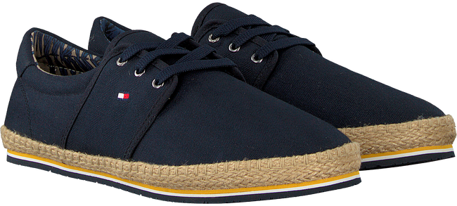 Blauwe TOMMY HILFIGER Veterschoenen CANVAS LACE UP ESPADRILLE - large
