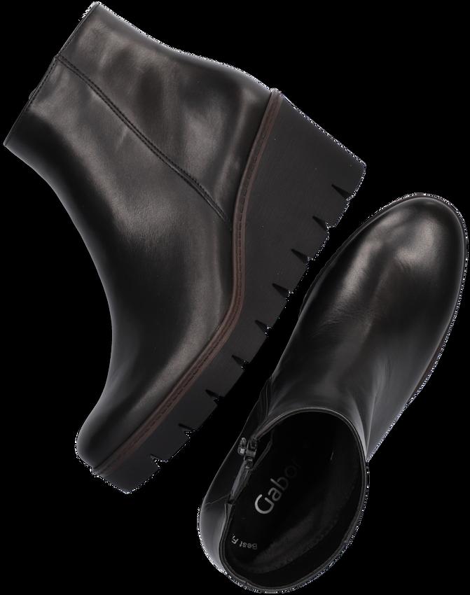 Zwarte GABOR Enkellaarsjes 780.1  - larger