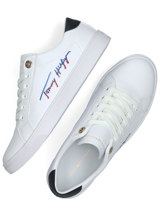 Witte TOMMY HILFIGER Lage sneakers TH SIGNATURE CUPSOLE  - large