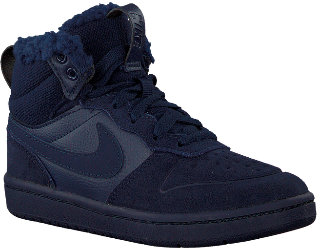 Blauwe NIKE Hoge sneaker COURT BOROUGH MID KIDS  - large