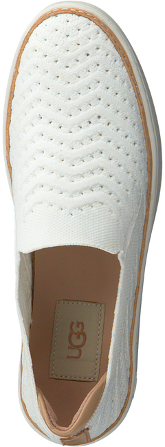 Witte UGG Instappers SAMMY CHEVRON  - large