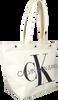 Witte CALVIN KLEIN Shopper EW BOTTOM TOTE MONOGRAM - small