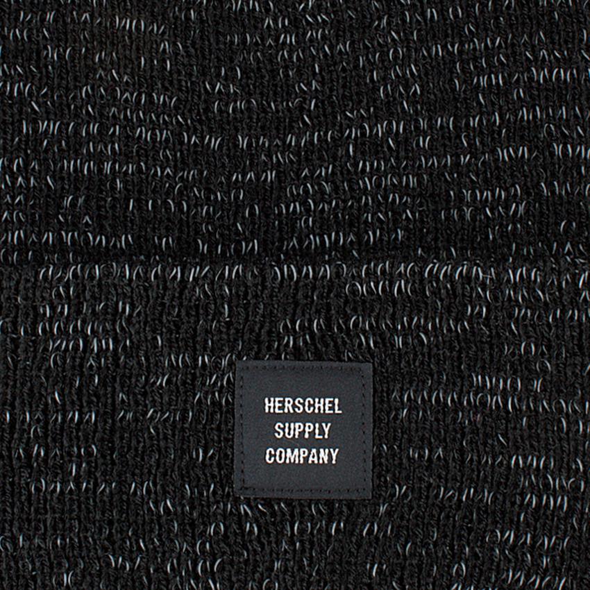 Zwarte HERSCHEL Muts ABBOTT REFLECTIVE - larger