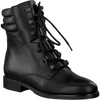Zwarte TOMMY HILFIGER Veterboots PIN LOGO LACE UP  - small